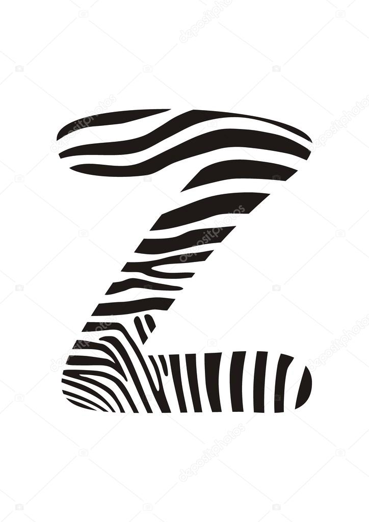 zebra de fonte letra z vetores de stock 169 vlado 46027903