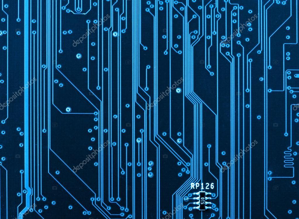 Circuito Hd : Computadora de circuitos closeup — foto stock