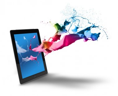 Tablet computer color splash