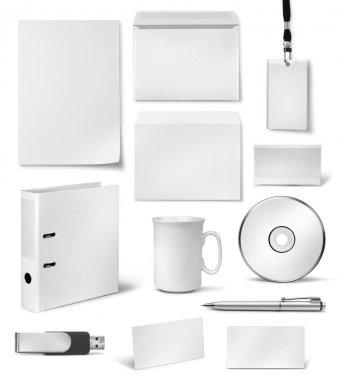 Corporate visual identity design templates