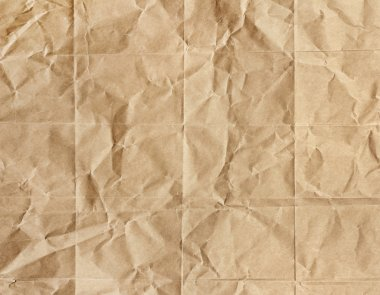 Old brown paper crumpled