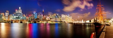 Beautiful photograph of Sydney Skyline taken from Darling Harbour in Australia. stock vector