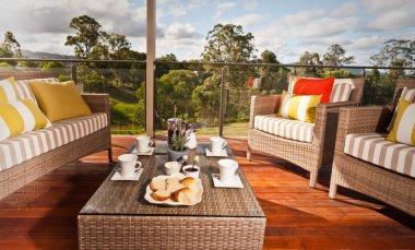 Comfortable outdoor wicker furniture