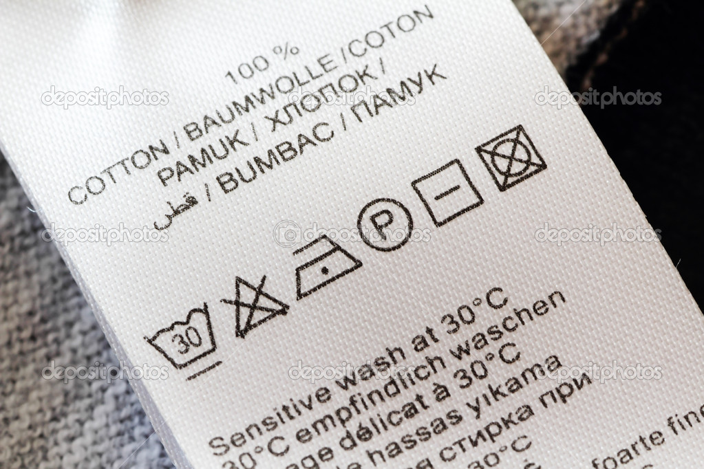 Laundry Care Label Stock Photo Ultraone 31728923