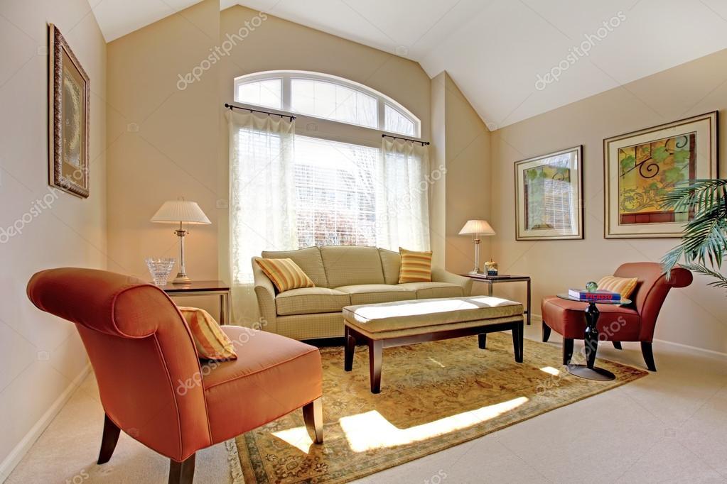 Beautiful classic living room with elegant furnitureStock