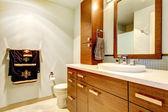 Fotografie klassische Badezimmer Interieur mit modernen Schränke