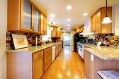 Zařízený pokoj světlé kuchyně