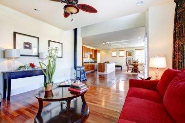 Elegant living room design. Kitchen room