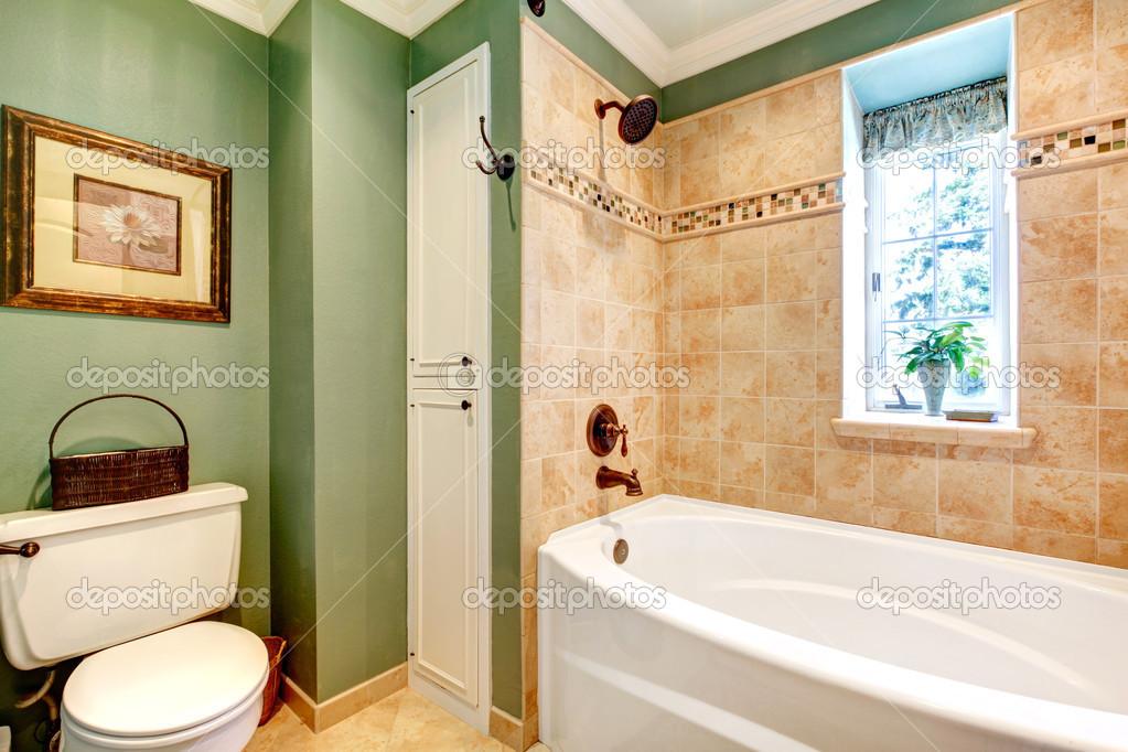 Warme Rustieke Badkamer : Prachtige olijf en mokka tonen badkamer u2014 stockfoto © iriana88w
