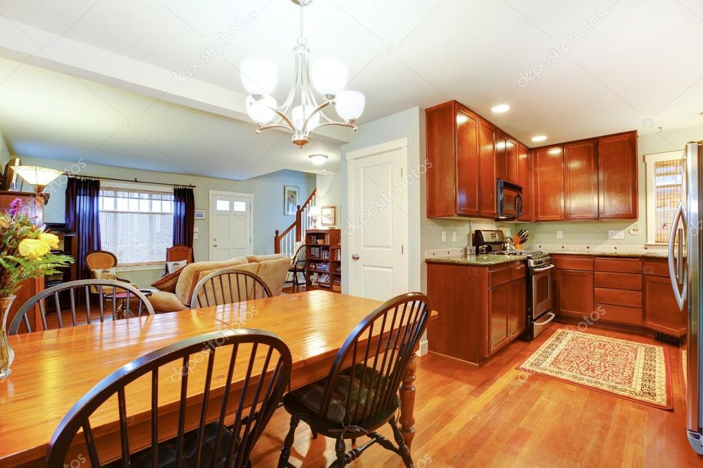 gran idea para un plan abierto de cocina, comedor y sala de estar ...