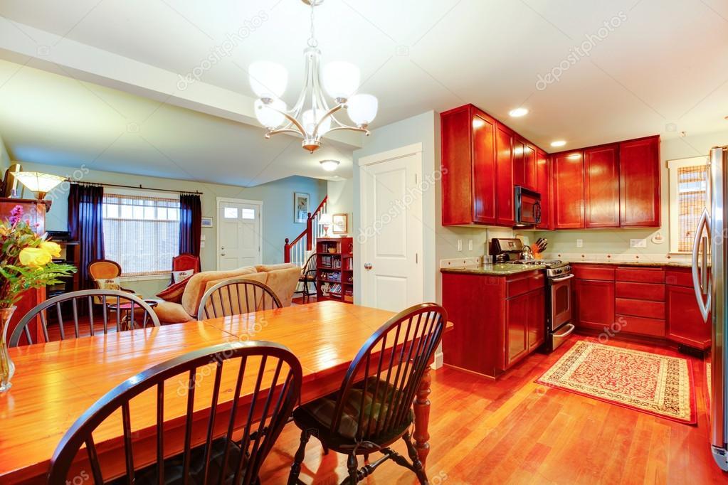 tolle Idee für eine offene von Küche, Ess- und Wohnzimmer ...