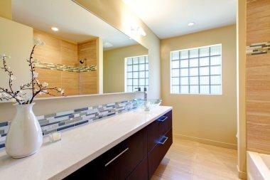 Elegant bright bathroom