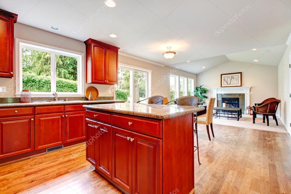 solución de gran diseño para abrir plan de cocina y sala de estar ...
