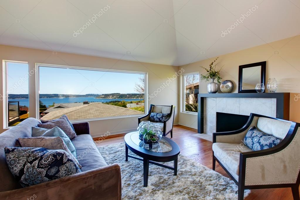 Rich Furnished Living Room With Amazing, Furnished Living Rooms