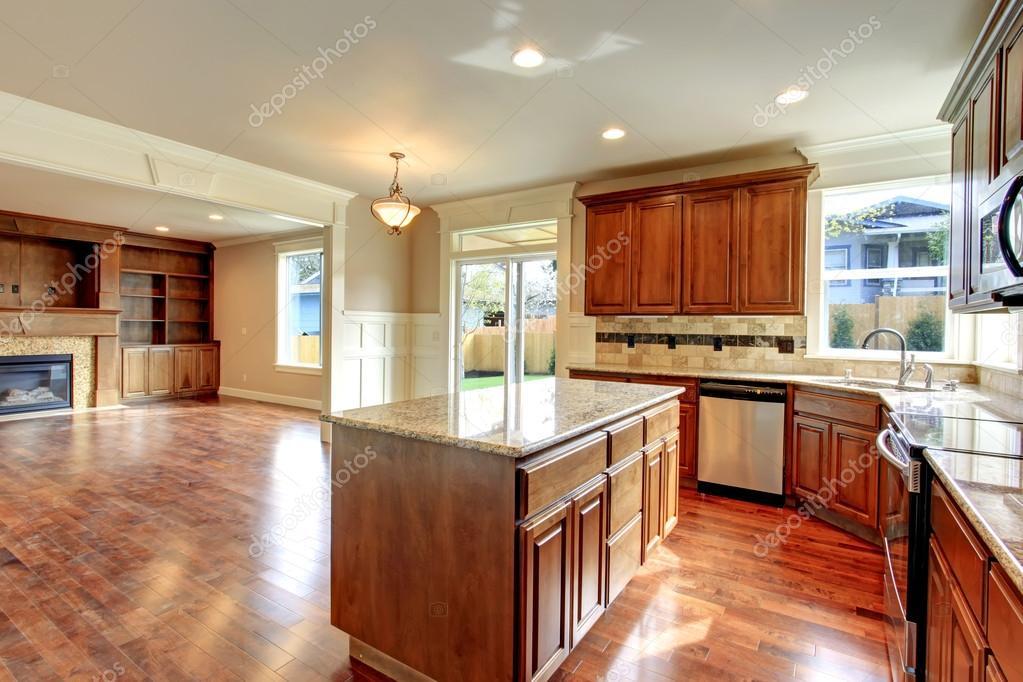 cocina y living comedor. idea de diseño abierto — Fotos de Stock ...