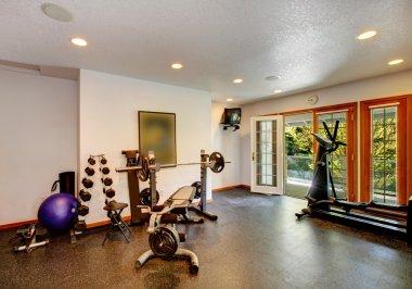 Home gym interior