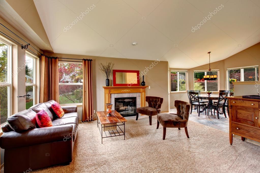 aprire piano design per soggiorno con zona pranzo ? foto stock ... - Design Soggiorno Pranzo