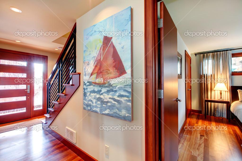 Idée de décoration intérieure. couloir — Photographie ...