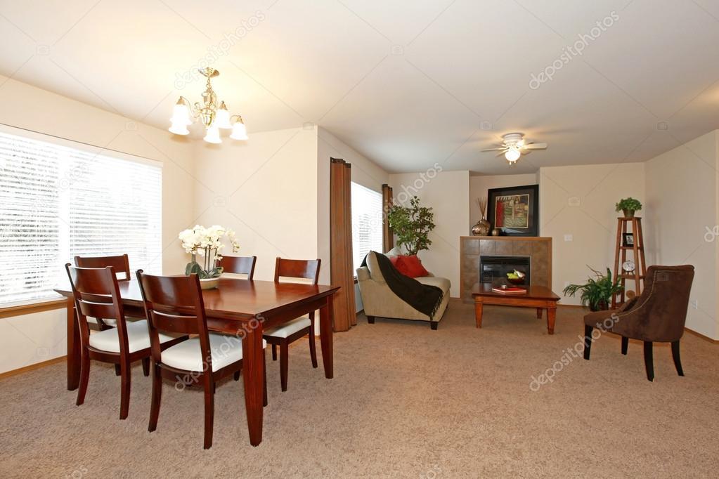 Aprire il disegno per soggiorno e sala da pranzo — Foto Stock ...