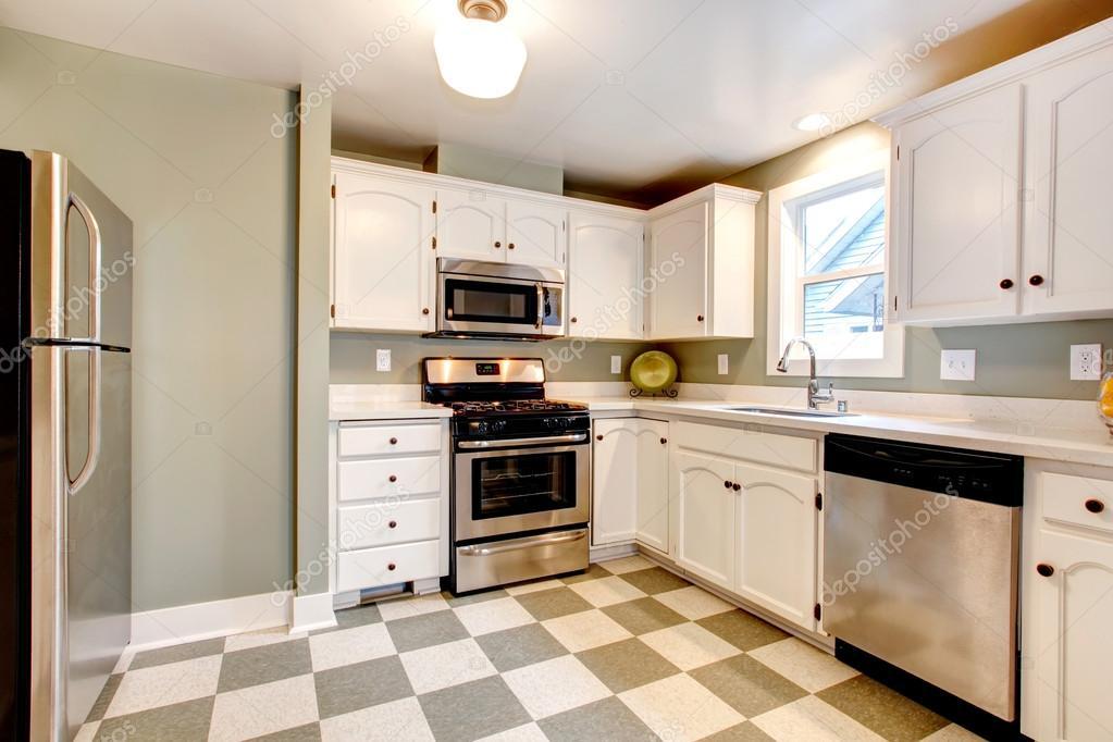 solución de gran color para sala de diseño de cocina — Foto de stock ...