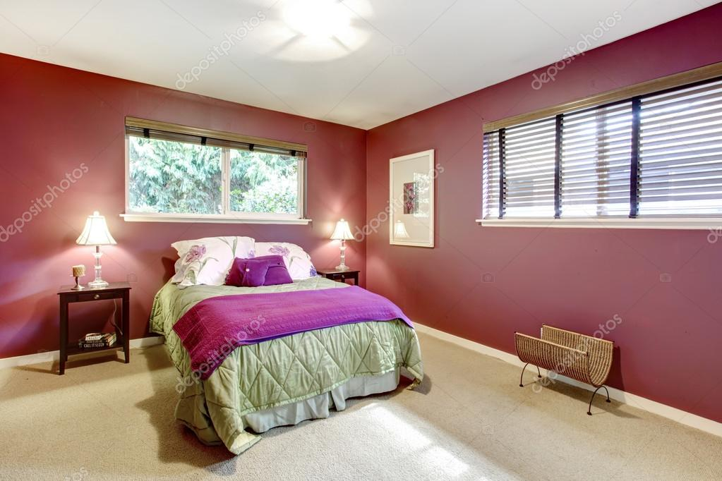 contrast kleur mooie slaapkamer — Stockfoto © iriana88w #42212483