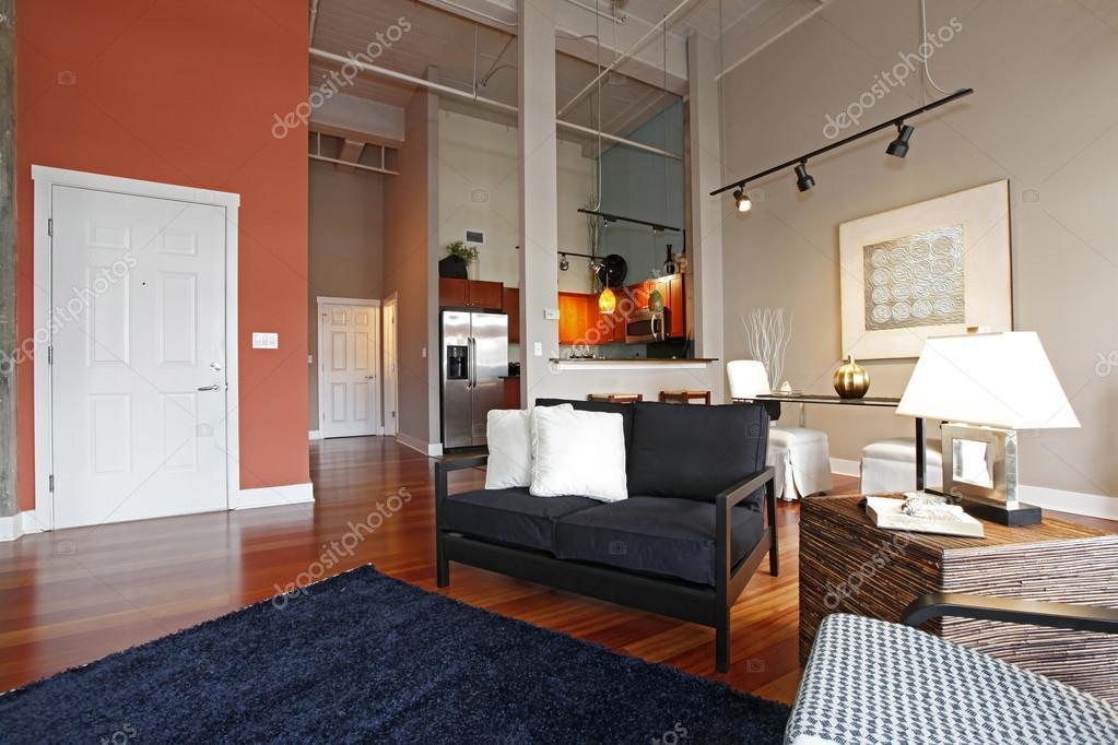 Reconstruit chambre salon et cuisine moderne. vue ...
