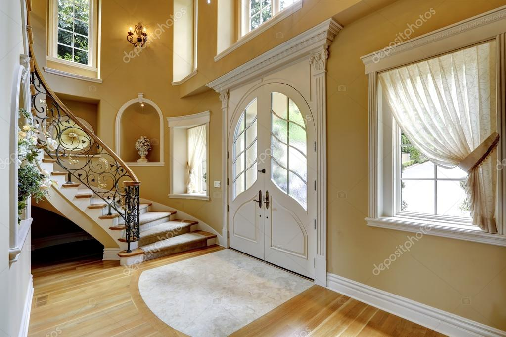 Stock Photo Luxury House Interior Entrance Hallway on den interior ideas