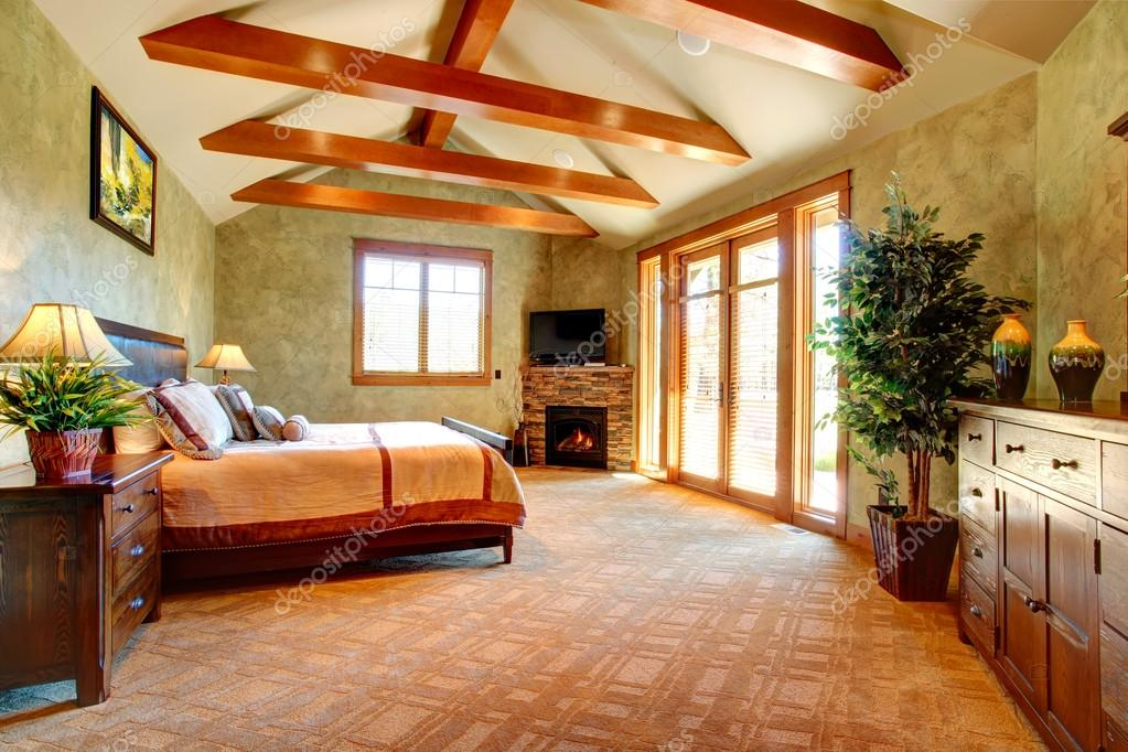 tropische slaapkamer interieur — Stockfoto © iriana88w #45004095