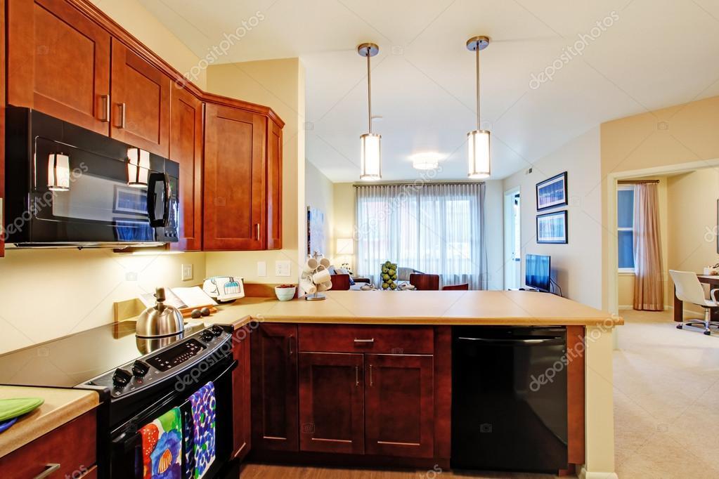 chambre cuisine moderne appartement avec plan dtage ouvert vue du salon image de iriana88w