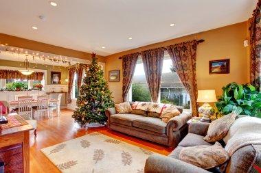 Living room on Christmas eve