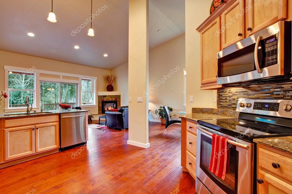 Keuken Plattegrond Open : Huis interieur open plattegrond. keuken u2014 stockfoto © iriana88w