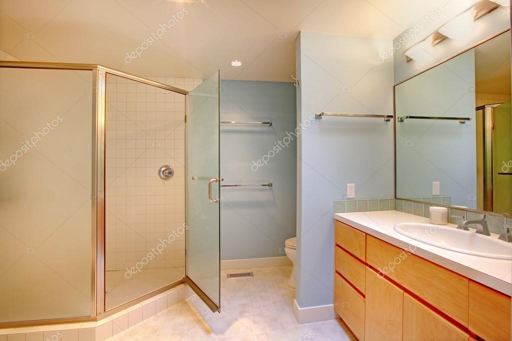 badkamer met glazen deur douche — Stockfoto © iriana88w #47103013