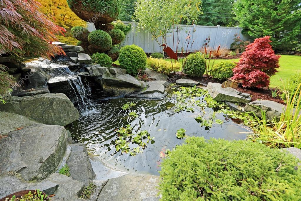Maison Jardin Tropical Avec Etang Photographie Iriana88w C 49034651
