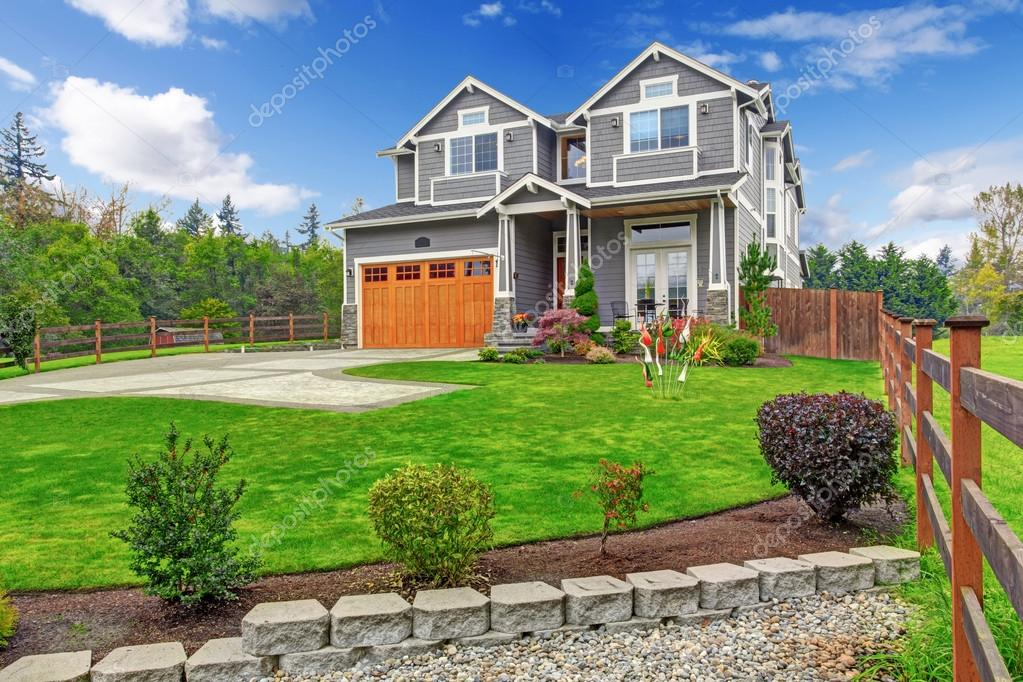 House exterior large countryside house stock photo for Cool house plans com