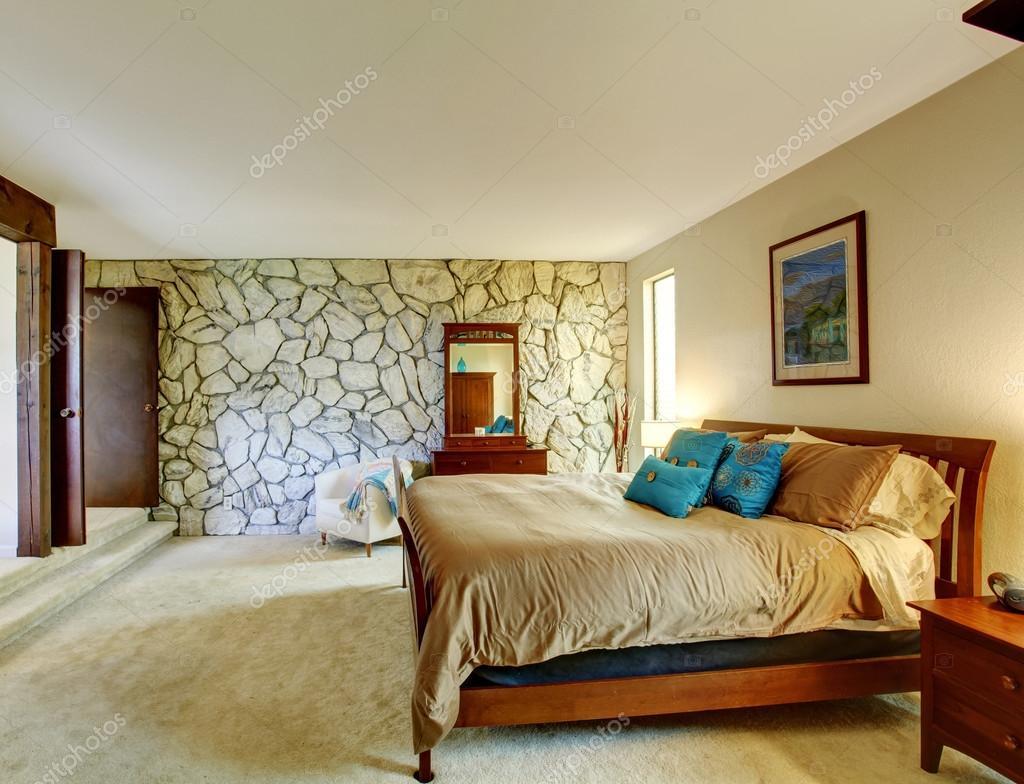 Int Rieur De La Belle Chambre Avec Mur De Pierre Photo 49902951