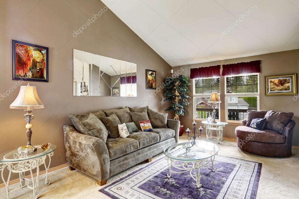 woonkamer interieur in zachte mokka kleur — Stockfoto © iriana88w ...