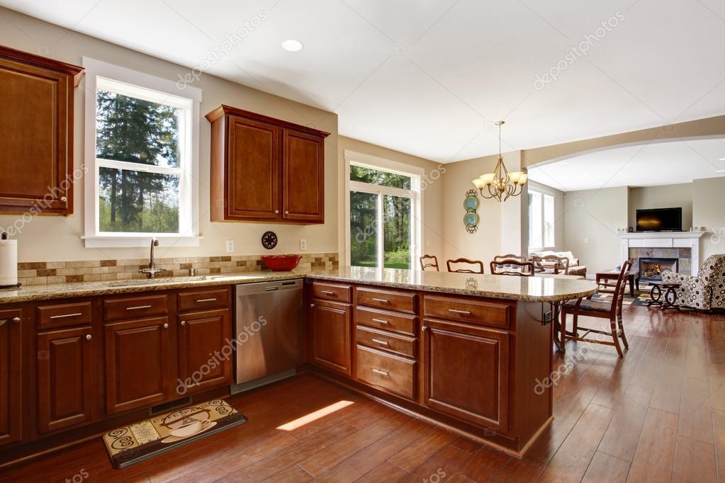 Cocina con comedor y sala | interior sala de cocina con zona de ...