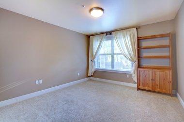 Empty room interior with cabinet