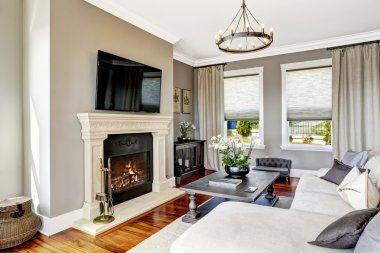 Impressive living room interior in luxury house