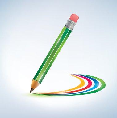 Pencil drawing a rainbow