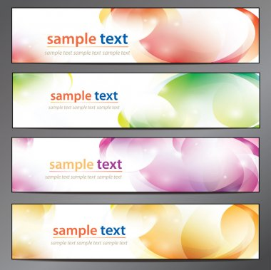 Abstract background, business banner set stock vector