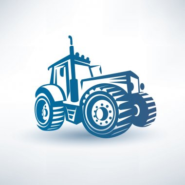 Modern tractor vector symbol