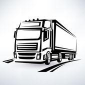európai teherautó vázolt vektor szimbólum