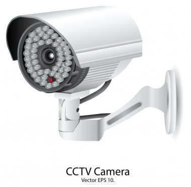 Security Camera CCTV Vector Illustration, EPS 10.