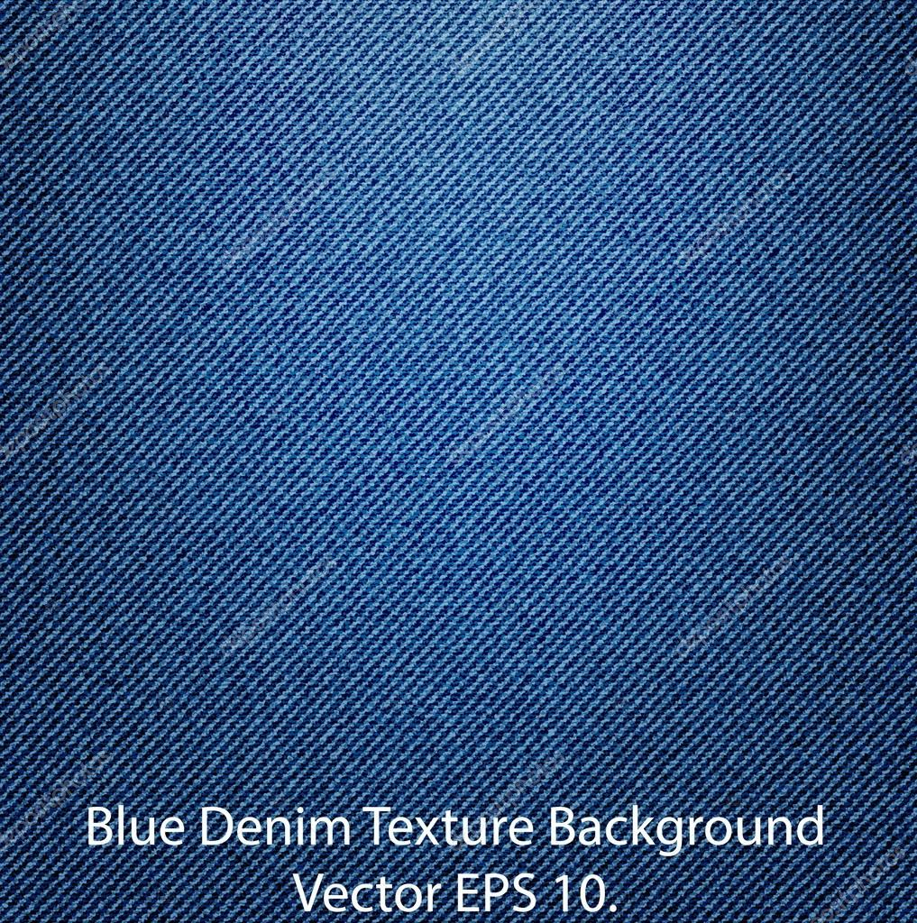 Blue Denim Texture Background, Vector EPS 10.