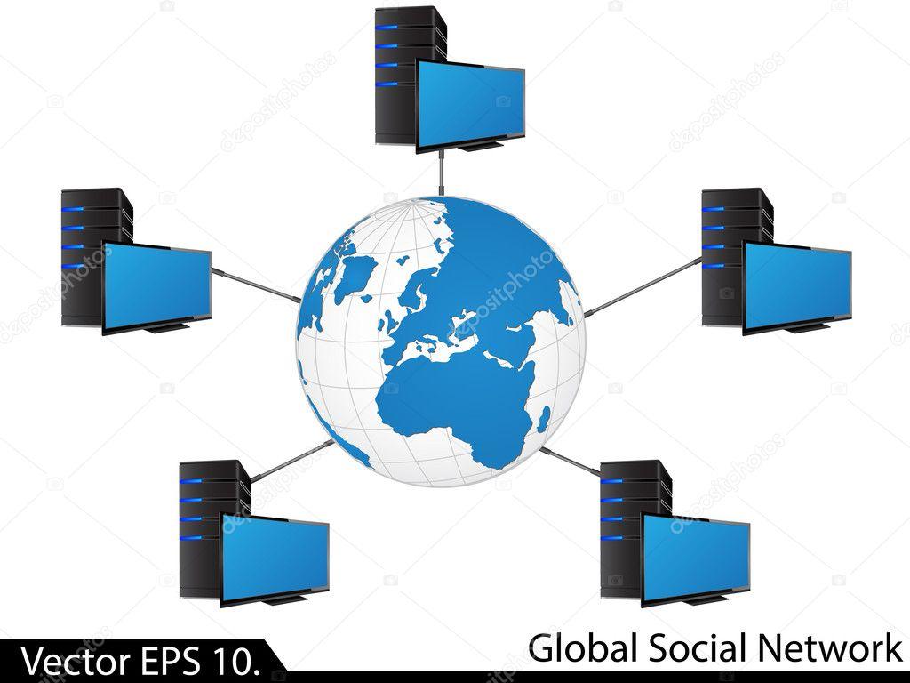 Schema Cablaggio Rete Lan : Diagramma di rete lan u2014 vettoriali stock © ohmega1982 #49149893