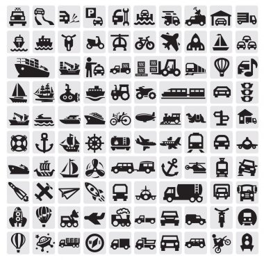 Big transportation icons