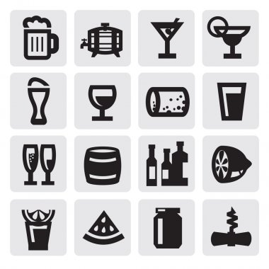 Beverages icons