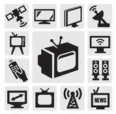 Photo TV icons set