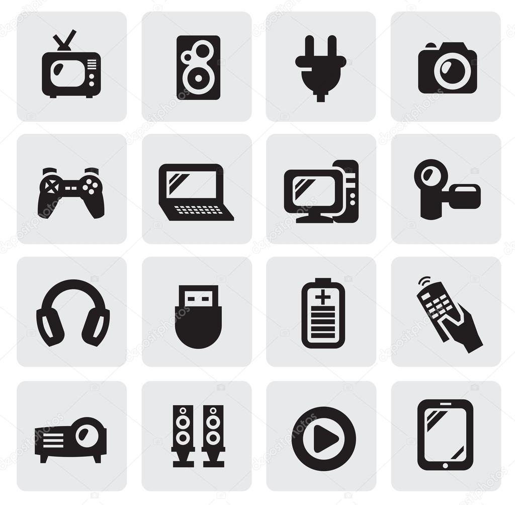 Elektronische Geräte Symbole — Stockvektor © bioraven #13887174